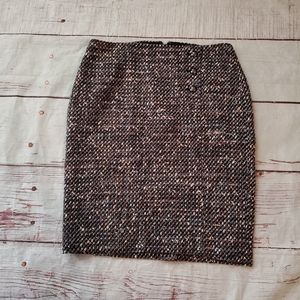 Talbots Multicolor Tweed Skirt Size 10p NWT
